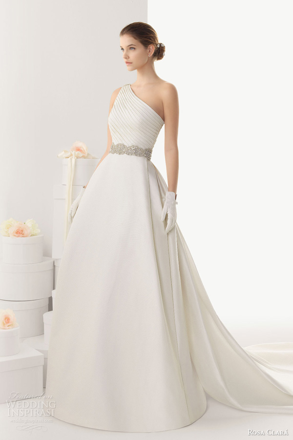 rosa clara wedding dresses 2014 bridal cairo one shoulder ball gown