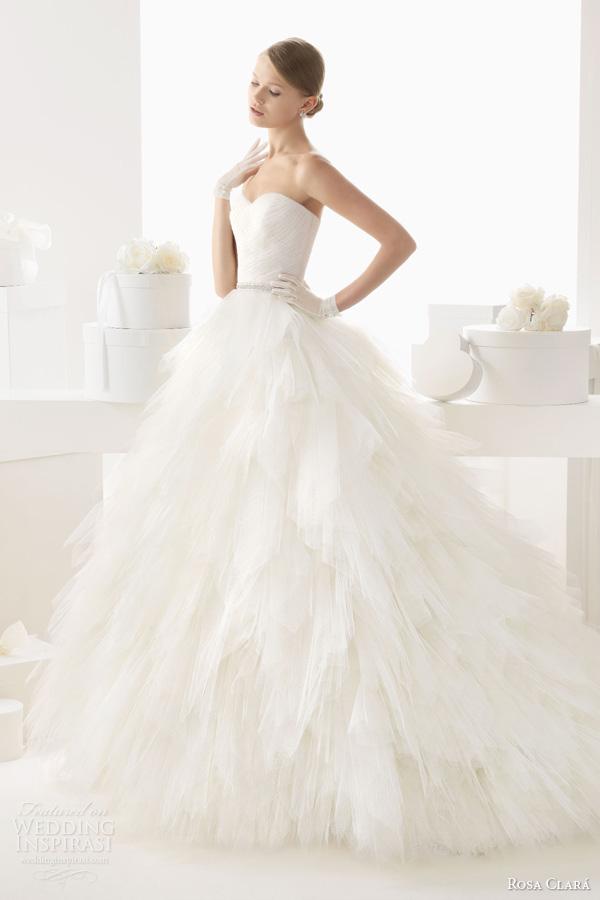 rosa clara wedding dresses 2014 bridal castila strapless ball gown