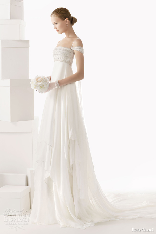 rosa clara wedding dresses 2014 bridal celia empire waist beaded
