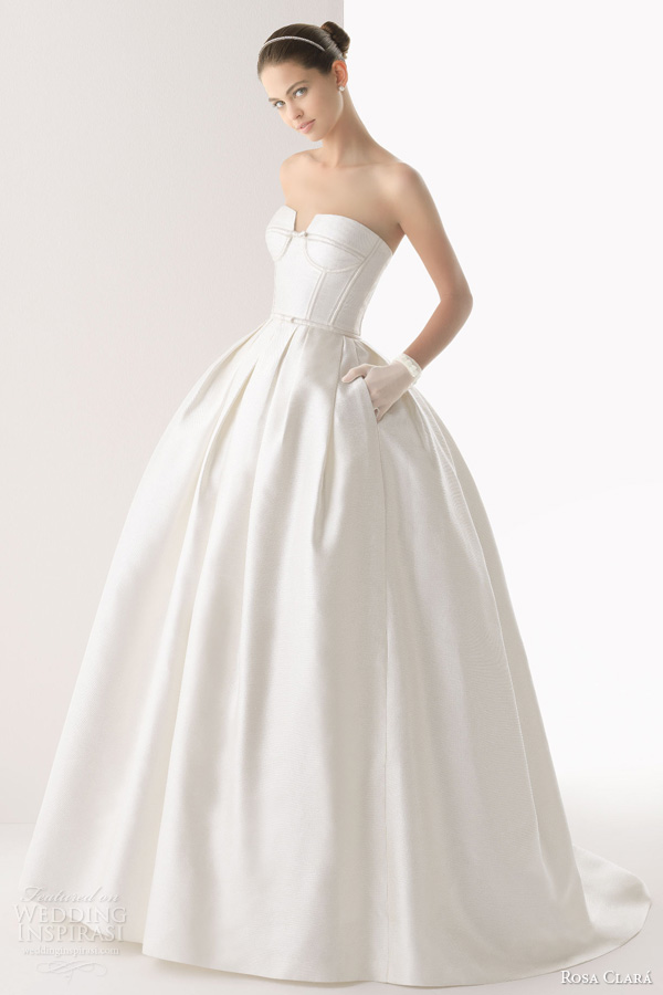 silk wedding dresses ball gown rosa clar 2014 wedding dresses