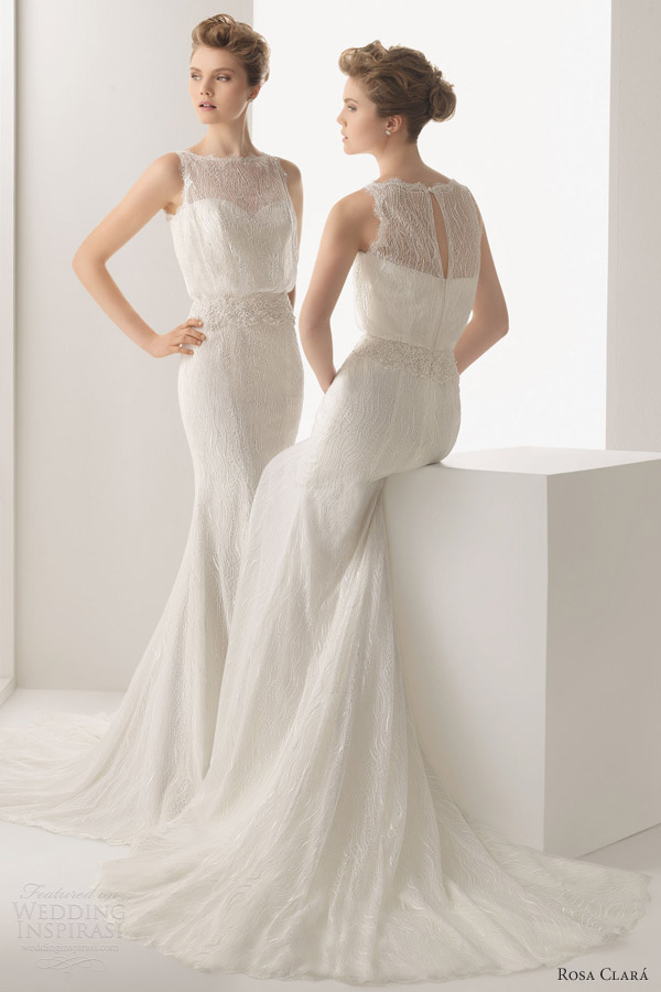 rosa clara wedding dresses 2014 uriel beaded lace sleeveless gown