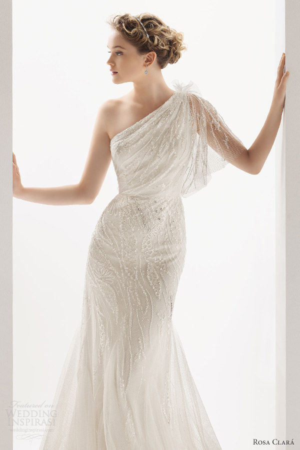 soft by rosa clara 2014 ucrania one shoulder wedding dress