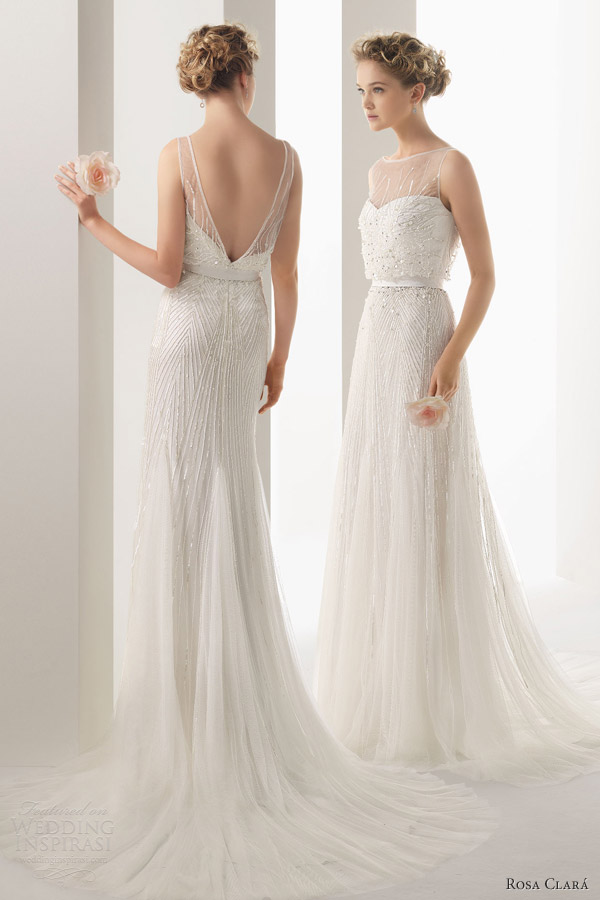 soft by rosa clara 2014 ugo beaded sleeveless wedding dress