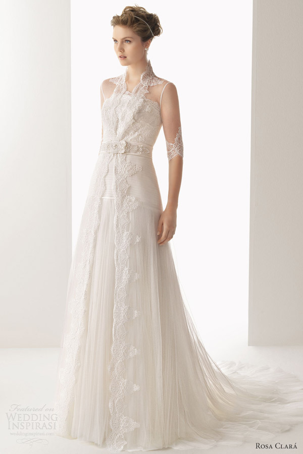 soft by rosa clara 2014 uranio lace wedding dress sleeve bridal coat