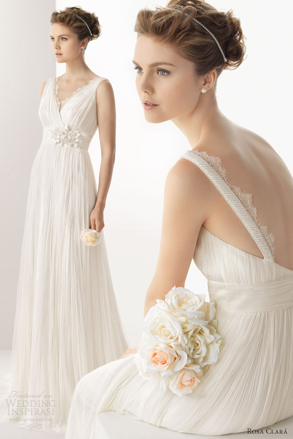 soft by rosa clara wedding dresses 2014 umbria sleeveless draped gown straps