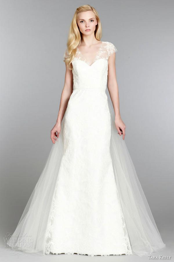 Trumpet Wedding Dress Tulle : Tara keely fall wedding dresses inspirasi