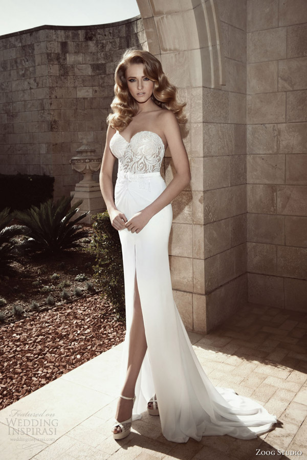 zoog studio bridal 2013 sheath sexy wedding dresses