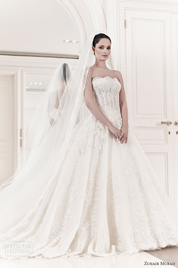 zuhair murad bridal 2014 aurelia strapless wedding dress