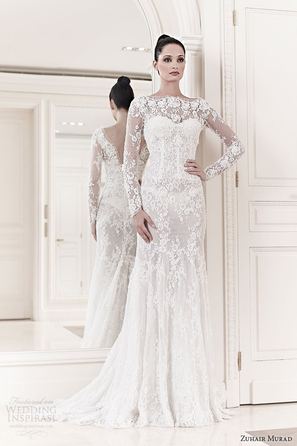 Zuhair murad wedding dresses spring 2014 wedding inspirasi for Long sleeve lace wedding dresses