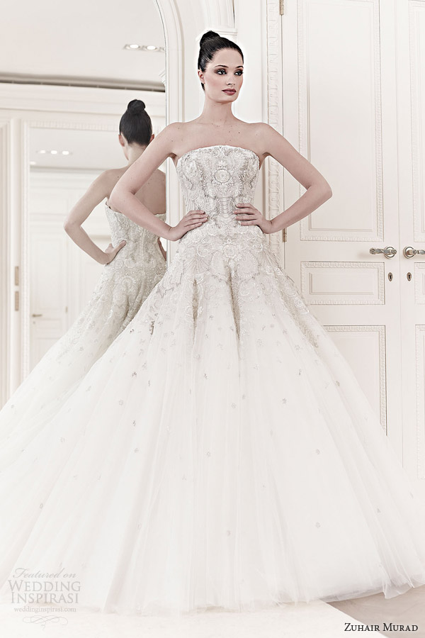 zuhair murad bridal spring 2014 emma strapless wedding dress