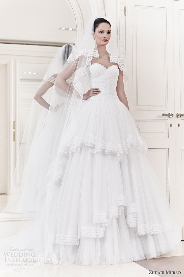 zuhair murad wedding dresses 2014 bridal alexia strapless ball gown