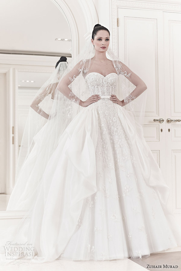 zuhair murad wedding dresses spring 2014 bridal sarina strapless ball gown