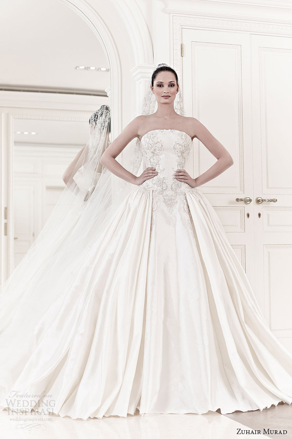 zuhair murad wedding dresses spring summer 2014 lynn strapless ball gown