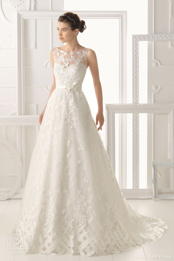 Aire Barcelona 2014 Bridal Collection Lace Wedding Dresses