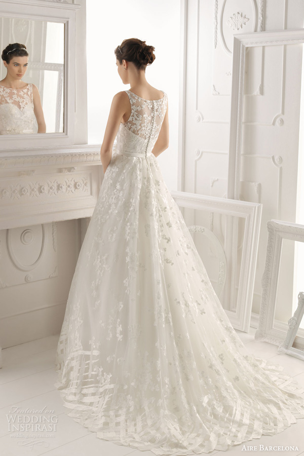 aire barcelona 2014 bridal oest sleeveless wedding dress
