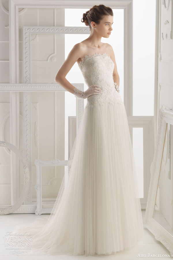 aire barcelona 2014 obadia strapless gown