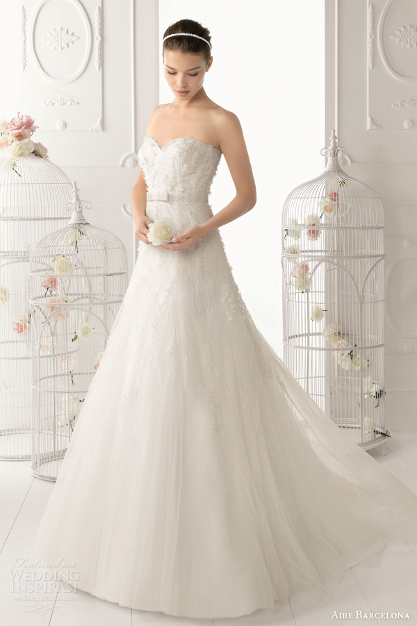 aire barcelona 2014 odil strapless wedding dress