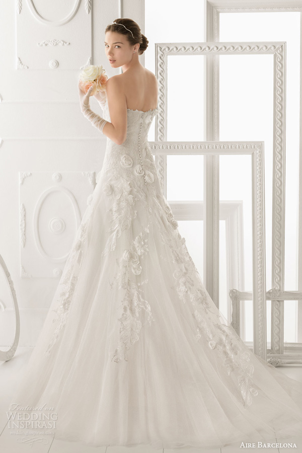 aire barcelona 2014 ozor strapless wedding gown