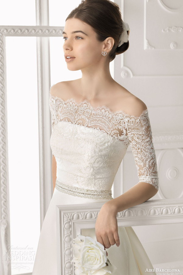 Aire Barcelona 2014 Bridal Collection Lace Wedding