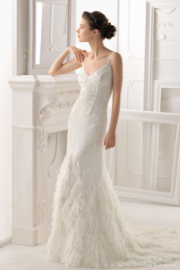 aire barcelona wedding dresses 2014 bridal ondara beaded gown