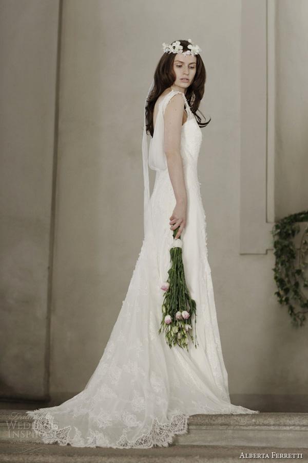 alberta ferretti 2014 bridal windsor wedding dress sleeveless lace