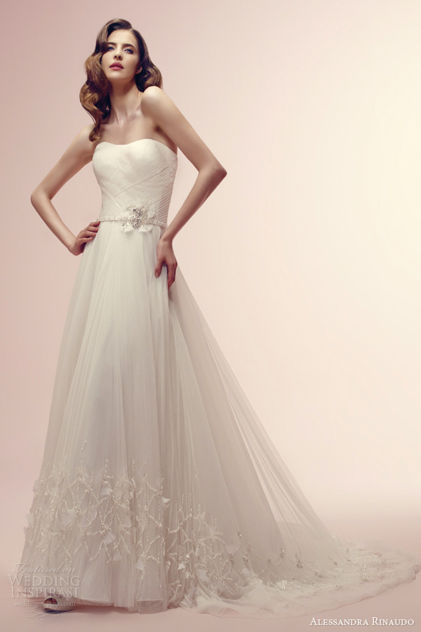 alessandra rinaudo 2014 reese strapless wedding dress