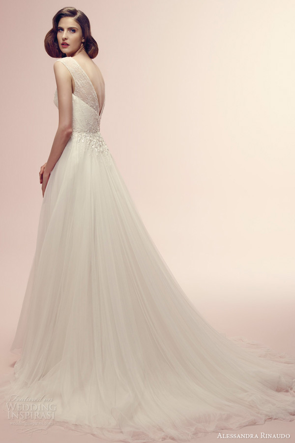 alessandra rinaudo 2014 renne cap sleeve wedding dress