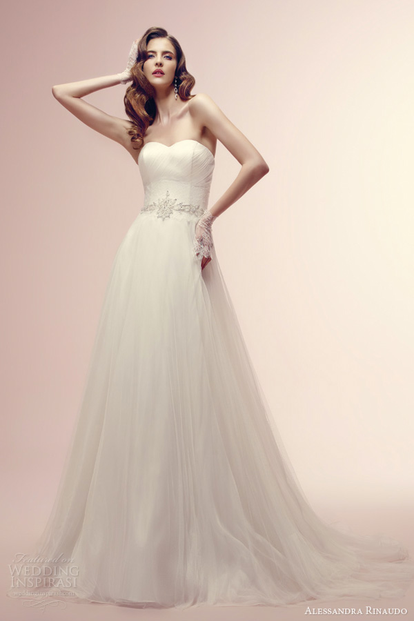 alessandra rinaudo 2014 reverie strapless wedding dress