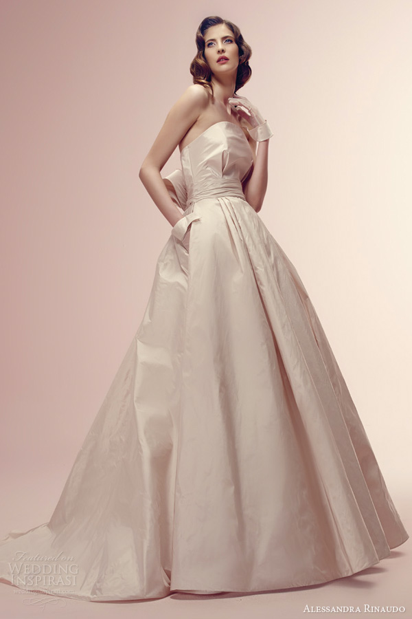 alessandra rinaudo 2014 rosanne color wedding dress