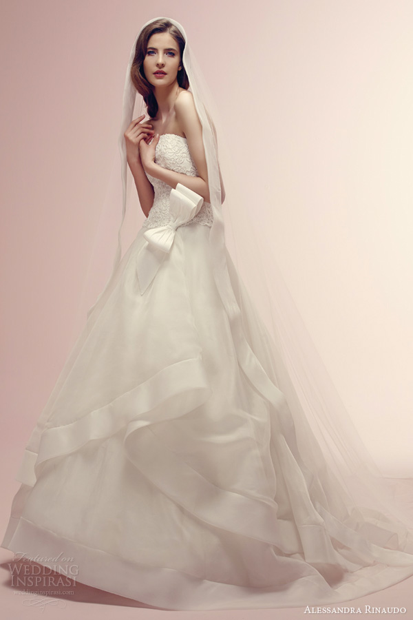 alessandra rinaudo bridal 2014 rae romantic wedding dress strapless