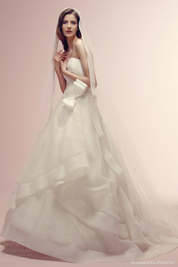 alessandra rinaudo bridal 2014 rae romantic wedding dress strapless