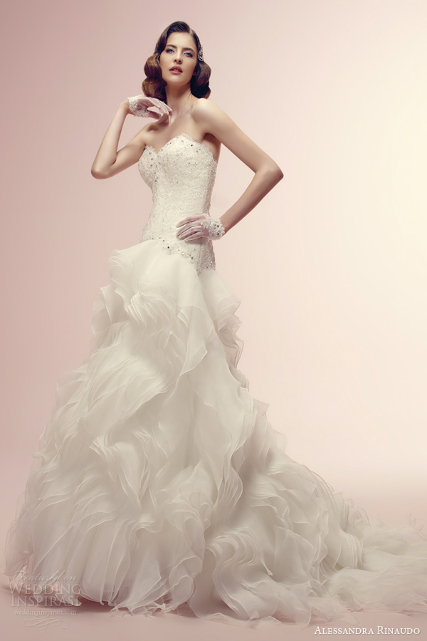 alessandra rinaudo bridal 2014 rita strapless wedding dress