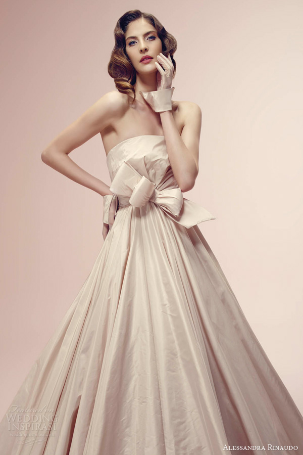 alessandra rinaudo bridal 2014 rosa color wedding dress