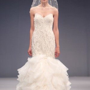 anne barge fall 2013 bridal angelique strapless mermaid wedding dress