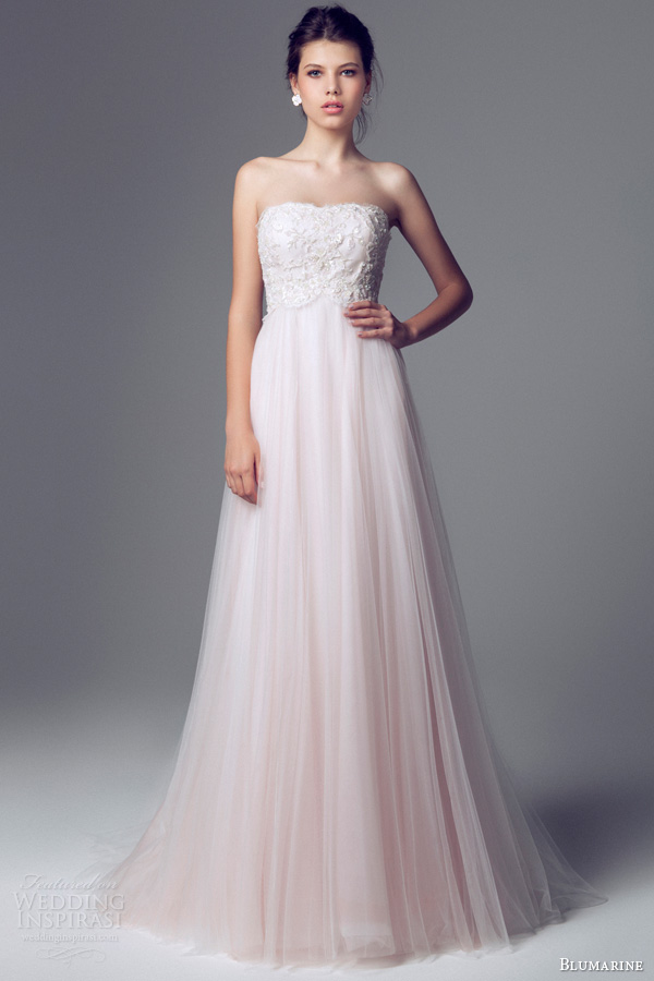Blumarine bridal 2014 wedding dresses wedding inspirasi blumarine 2014 bridal strapless pink wedding dress junglespirit Images