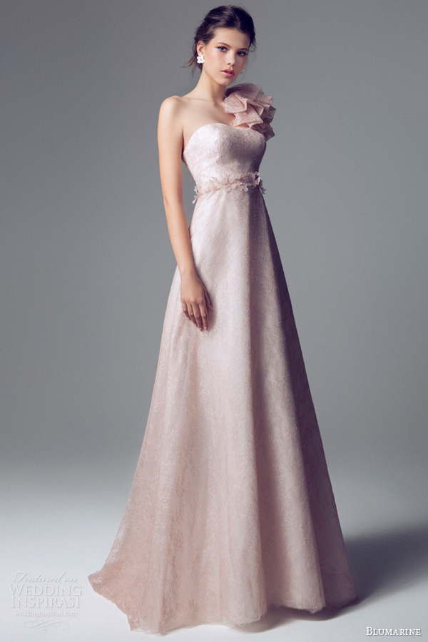 Blumarine bridal 2014 wedding dresses wedding inspirasi for Pink ruffle wedding dress