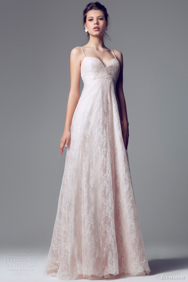 pink lace wedding dress blumarine bridal 2014 wedding dresses wedding inspirasi 6585