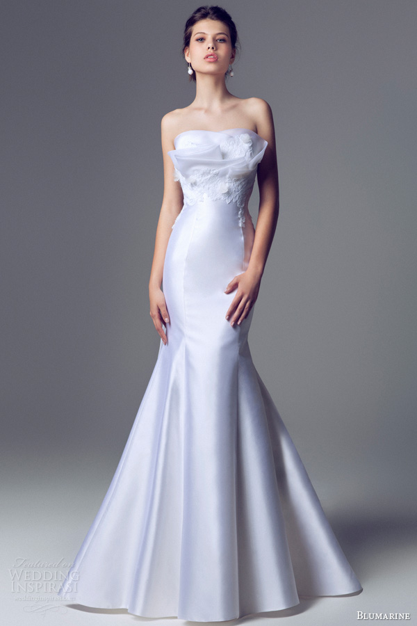 blumarine 2014 sposa strapless mermaid fit flare crumb catcher wedding dress