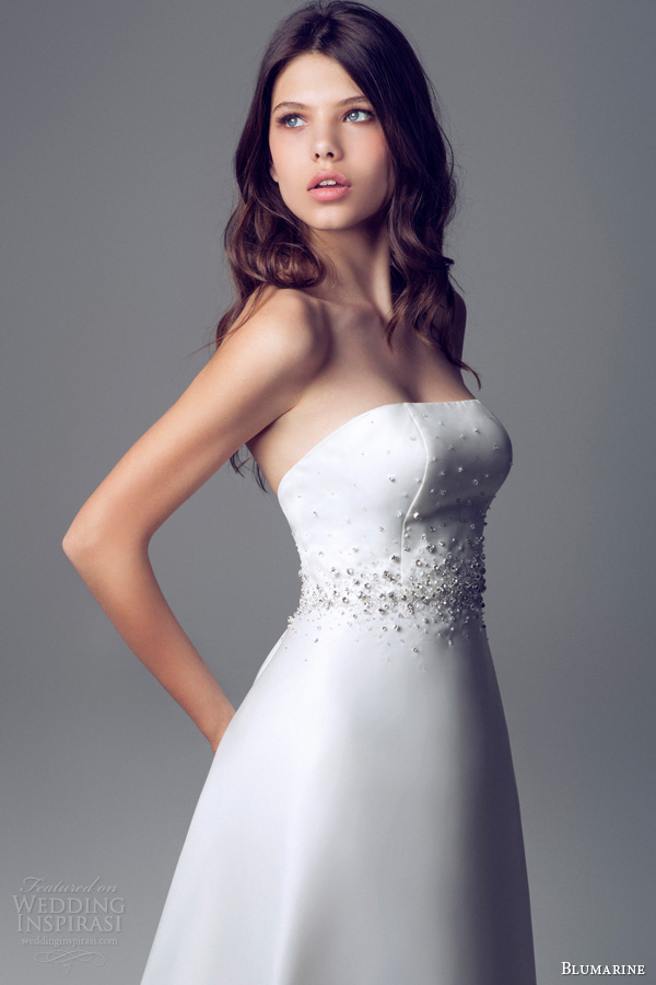 blumarine bridal 2014 wedding dress strapless crystal studded bodice