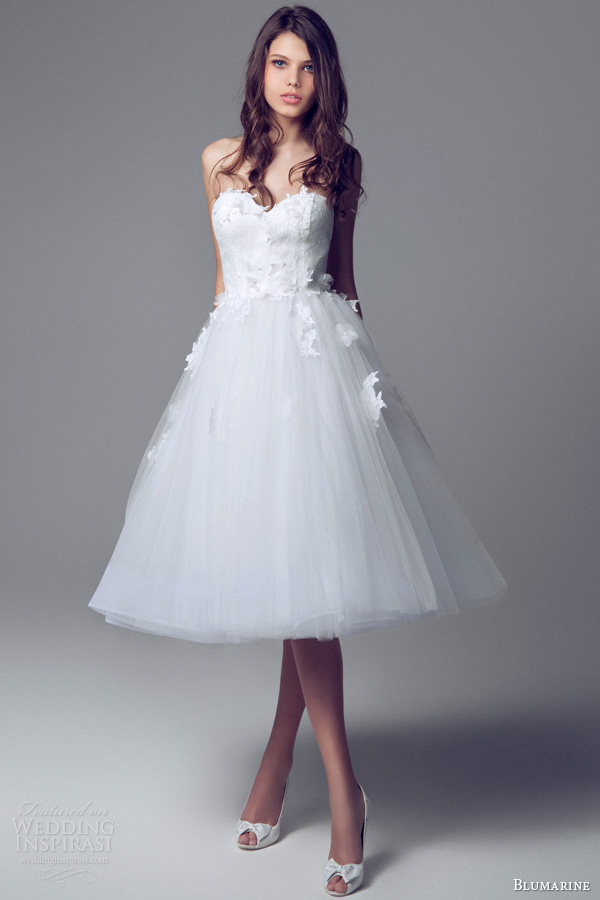 short wedding dresses 2014 strapless sweetheart wedding dress