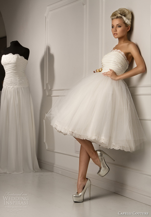 Capelli couture 2013 wedding dresses wedding inspirasi for Wedding dress for a short bride