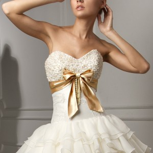 capelli couture bridal 2013 luigi strapless wedding dress ruffle ball gown skirt pearl beaded sweetheart bodice