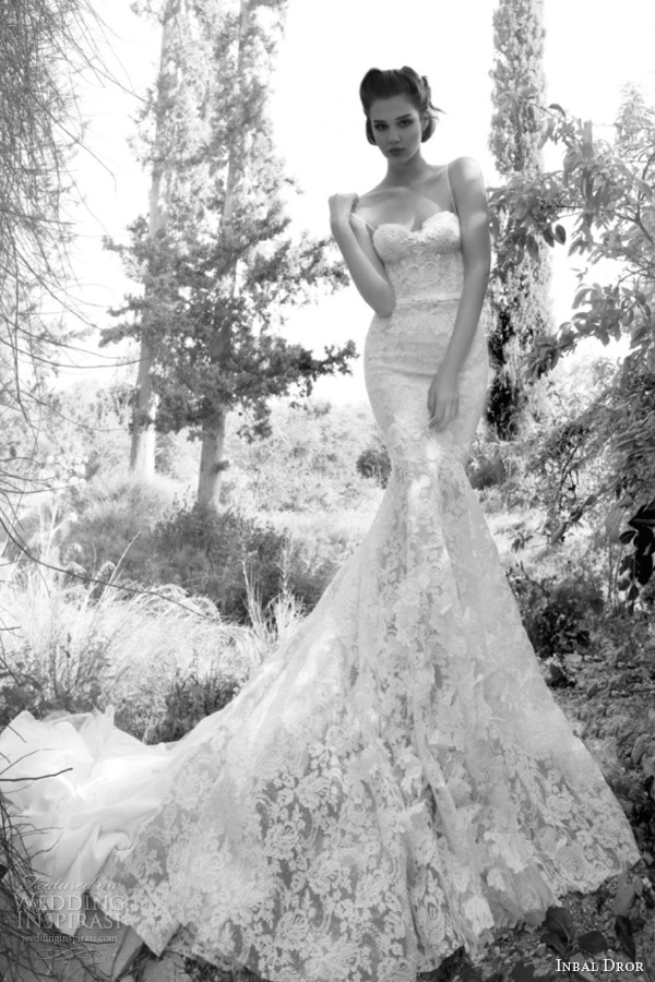 inbal dror 2013 lace wedding dress straps