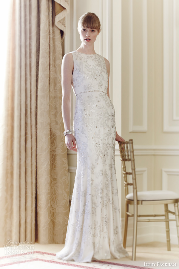 jenny packham bridal spring 2014 jean sleeveless beaded wedding dress