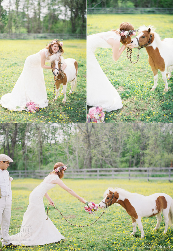 kay english photography anthropologie themed bridal shoot miniature horse