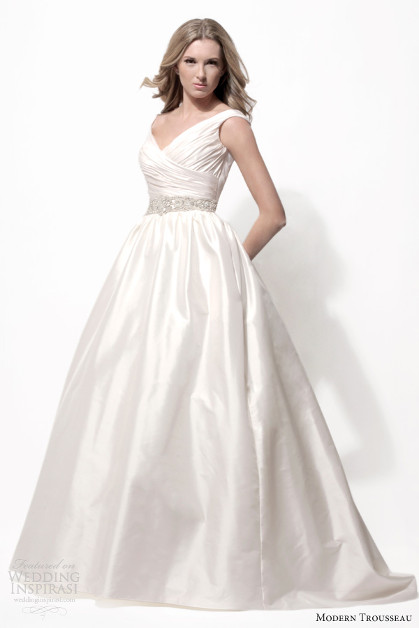 modern trousseau wedding dresses spring 2014 marena ball gown thai silk