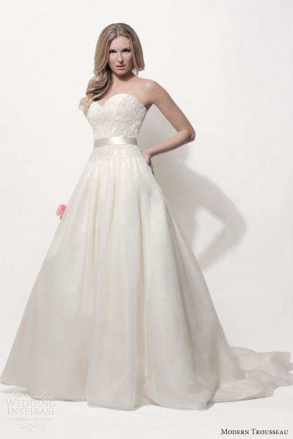 modern trousseau wedding dresses spring 2014 shana strapless a line gown