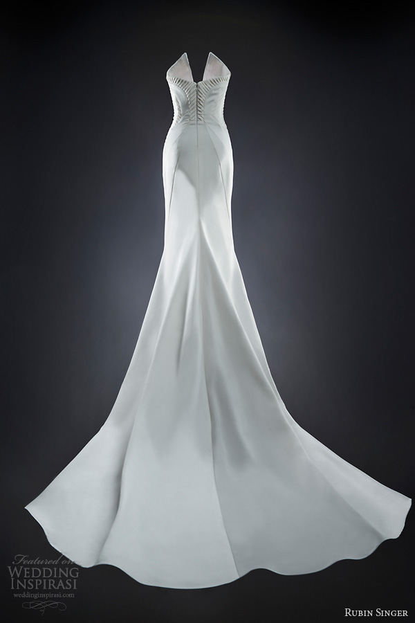 rubin singer 2014 bridal naomi wedding dress back train