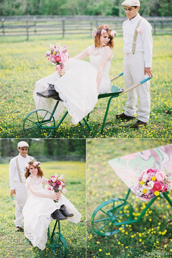 sareh nouri wedding dress anthropologie theme kay english photography wheelbarrow flowers