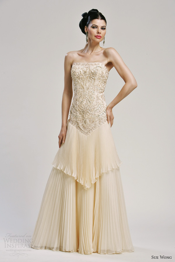 sue wong bridal 2013 strapless wedding dress style w3164